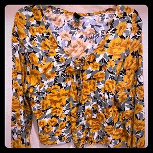 Wild Fable flowered blouse in warm tones